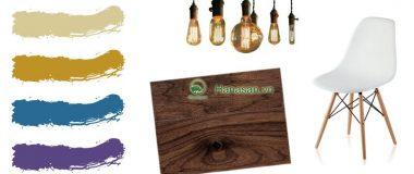 Sàn gỗ màu óc chó - Sàn gỗ công nghiệp màu óc chó