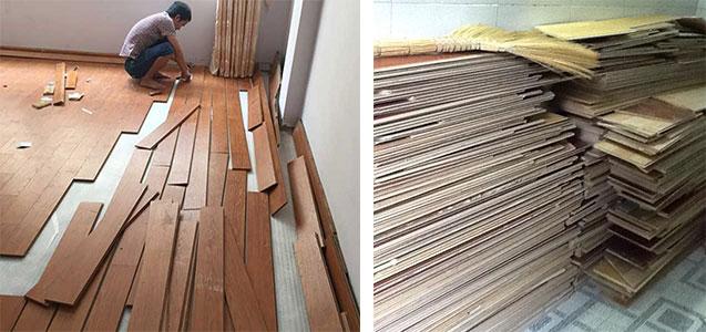 Sàn gỗ thanh lý giá 0 đồng