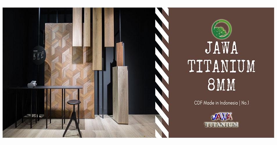 Banner sàn gỗ jawa titanium 8mm cdf indonesia