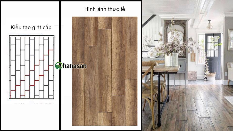 Lát sàn gỗ mạch giật cấp
